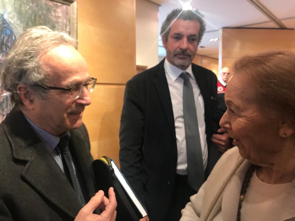 Il prof. David Meghnagi, Alan Davìd Baumann e Edith Bruck