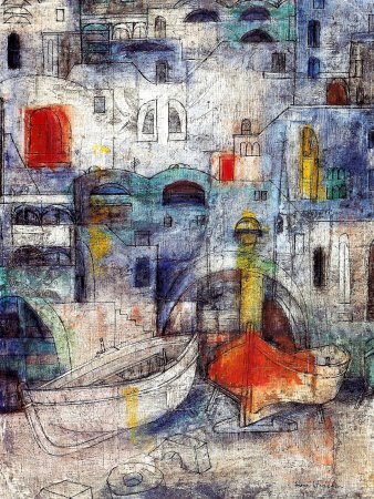 Due Barche (Two Boats) - Olio su tela (Oil on canvas), 1959, cm. 73x54